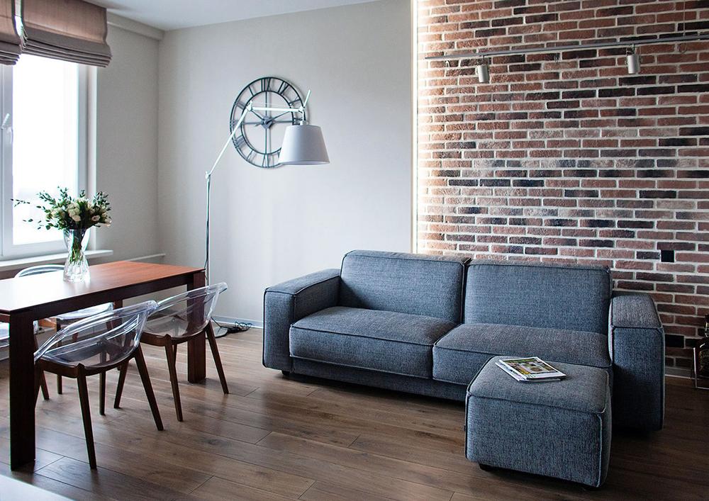 Использование кирпичной кладки в интерьере квартиры