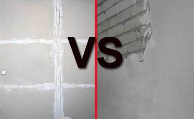 Что лучше гипсокартон или штукатурка стен