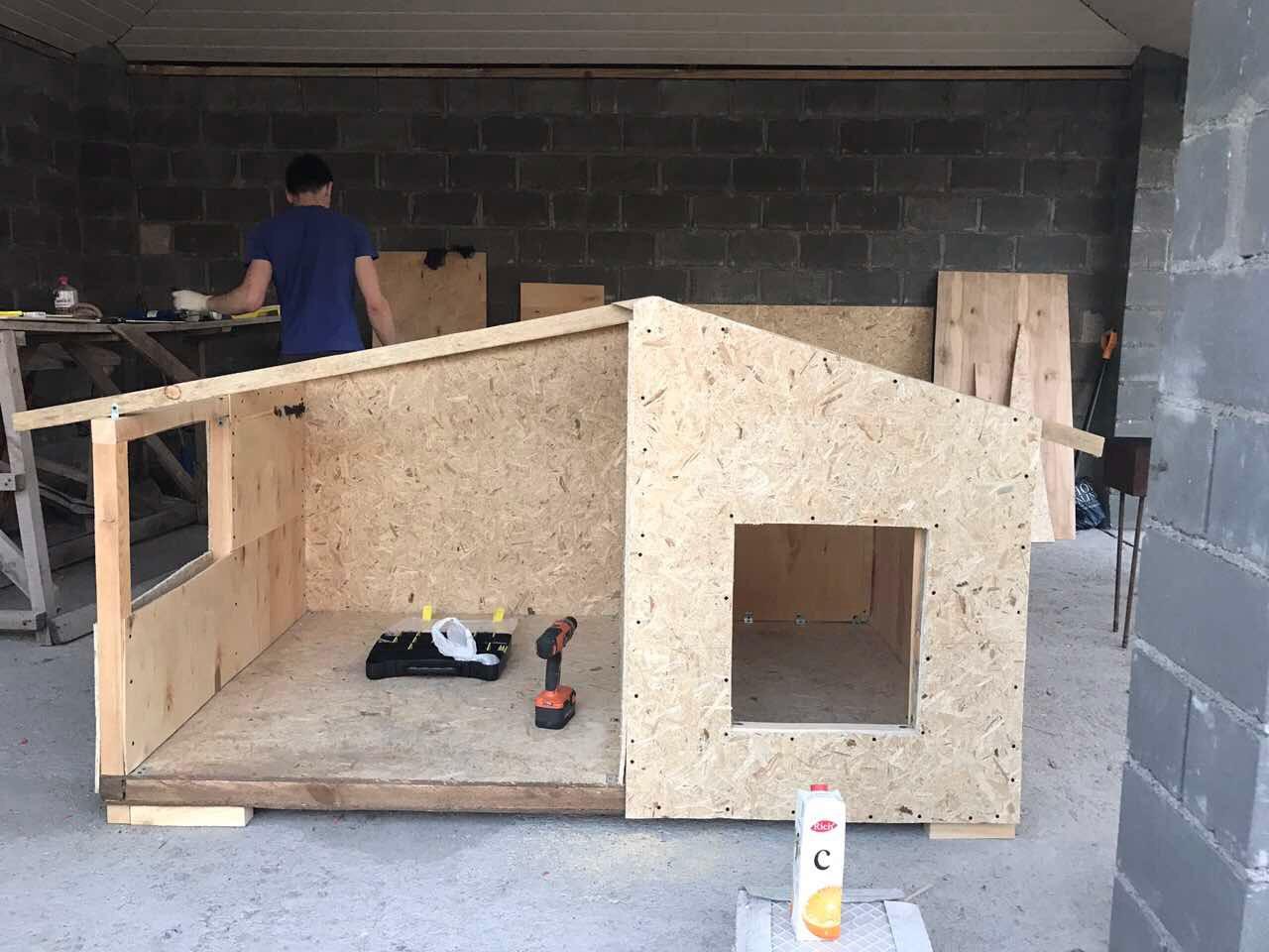 Как сделать будку для собаки: схемы, этапы работ, фото самых удачных моделей собачьих будок