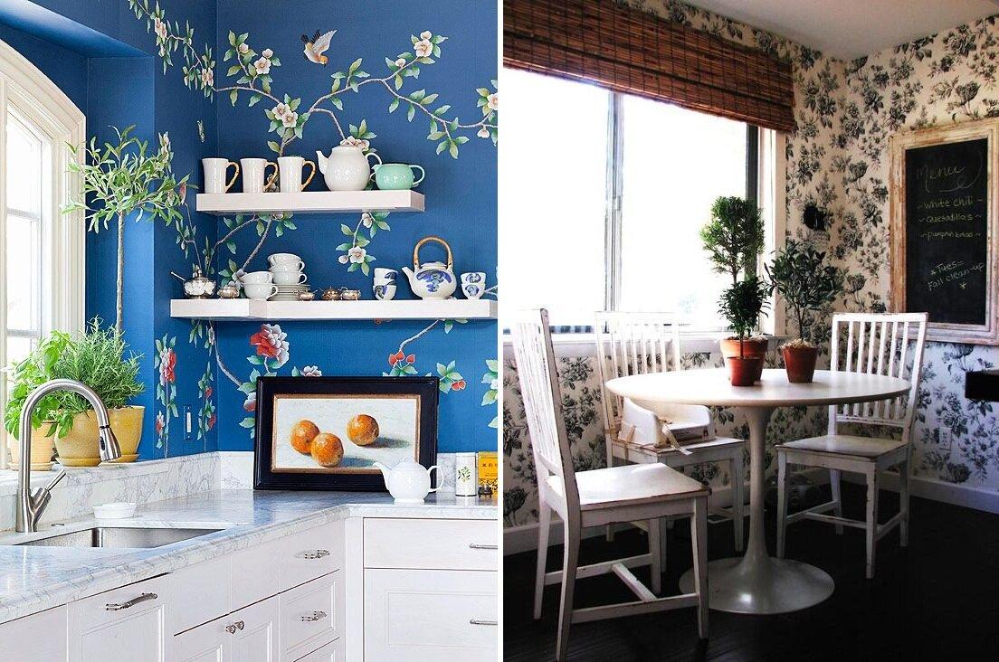 Эффектные варианты обоев, гармонирующих с гарнитуром: какие обои подойдут для кухни в зависимости от цвета мебели