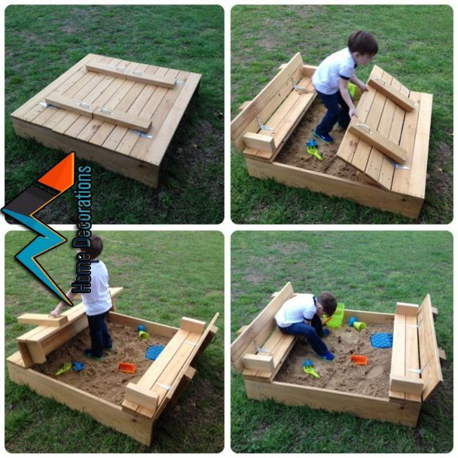 Построенная песочница своими руками — зона отдыха для маленьких детей