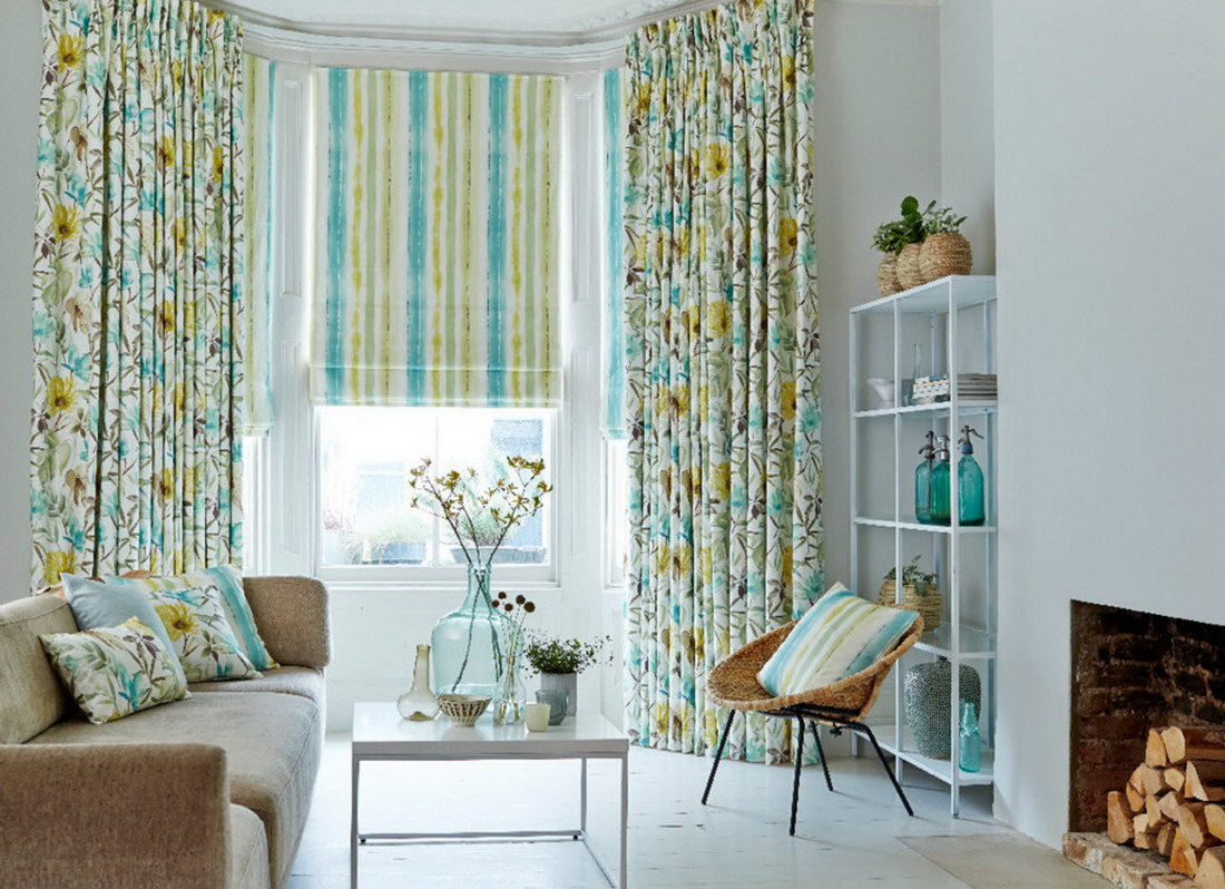 Яркие шторы: 125 фото вариантов дизайна и стильного оформления при помощи ярких штор