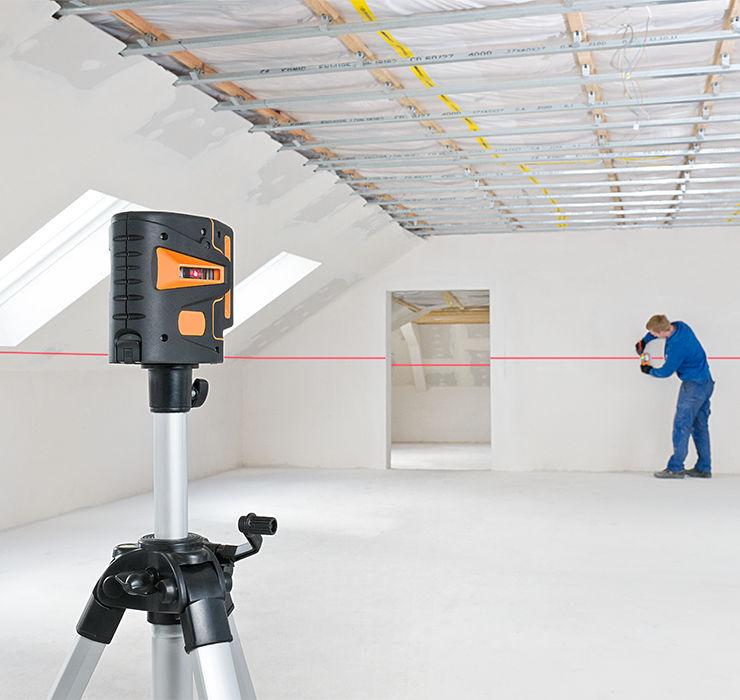 Использование лазерного уровня: как пользоваться лазерным нивелиром, видеоурок