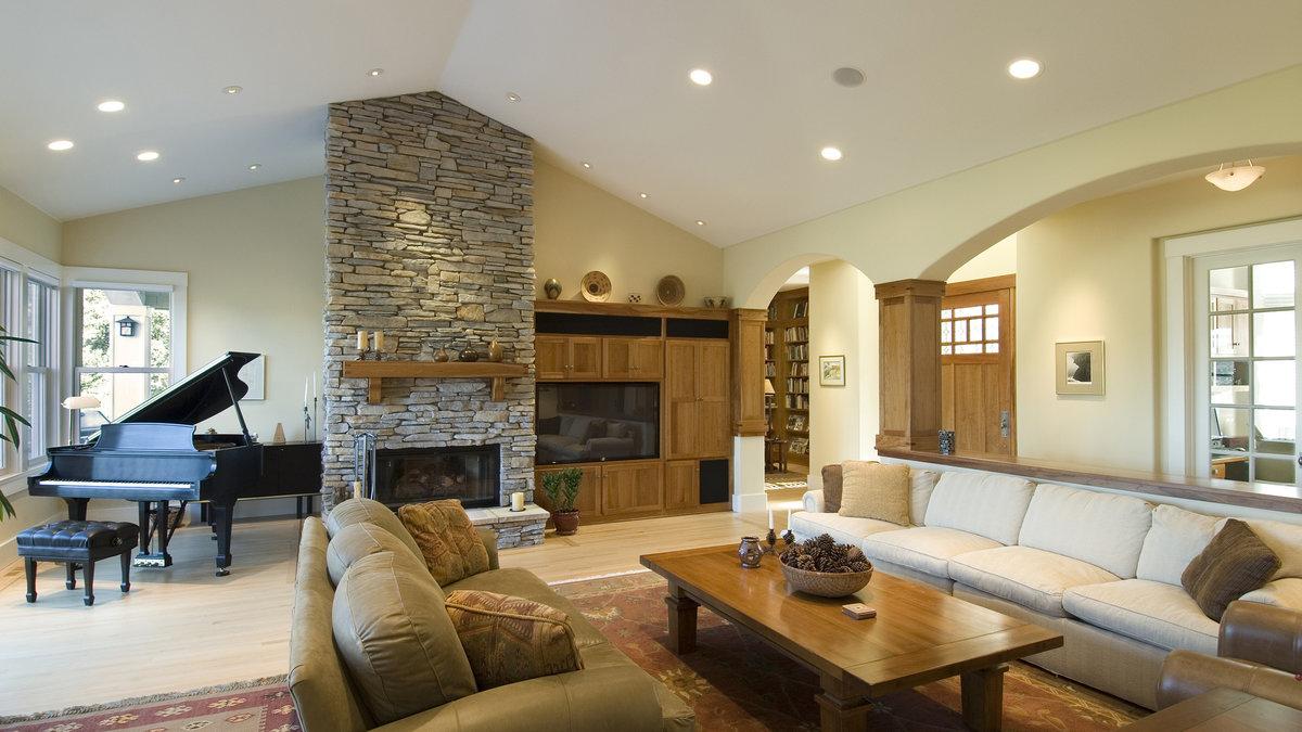 Маленькая гостиная с камином — идеи для дизайна