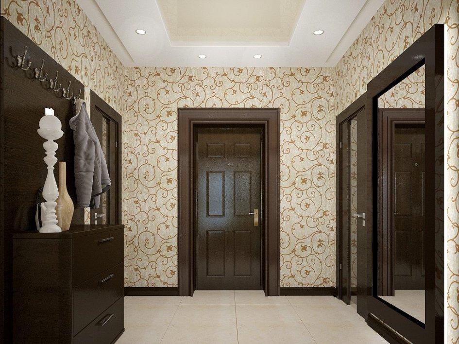 Обои в узкий коридор: какие выбрать, фотографии реального интерьера