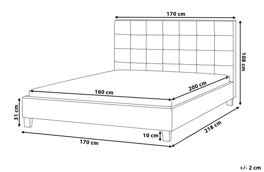 Стандартные размеры двуспальной кровати в зависимости от страны-производителя