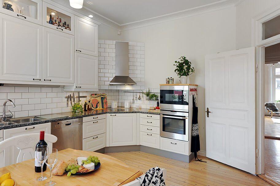 Кухня в скандинавском стиле - изобилие света и ощущение простора