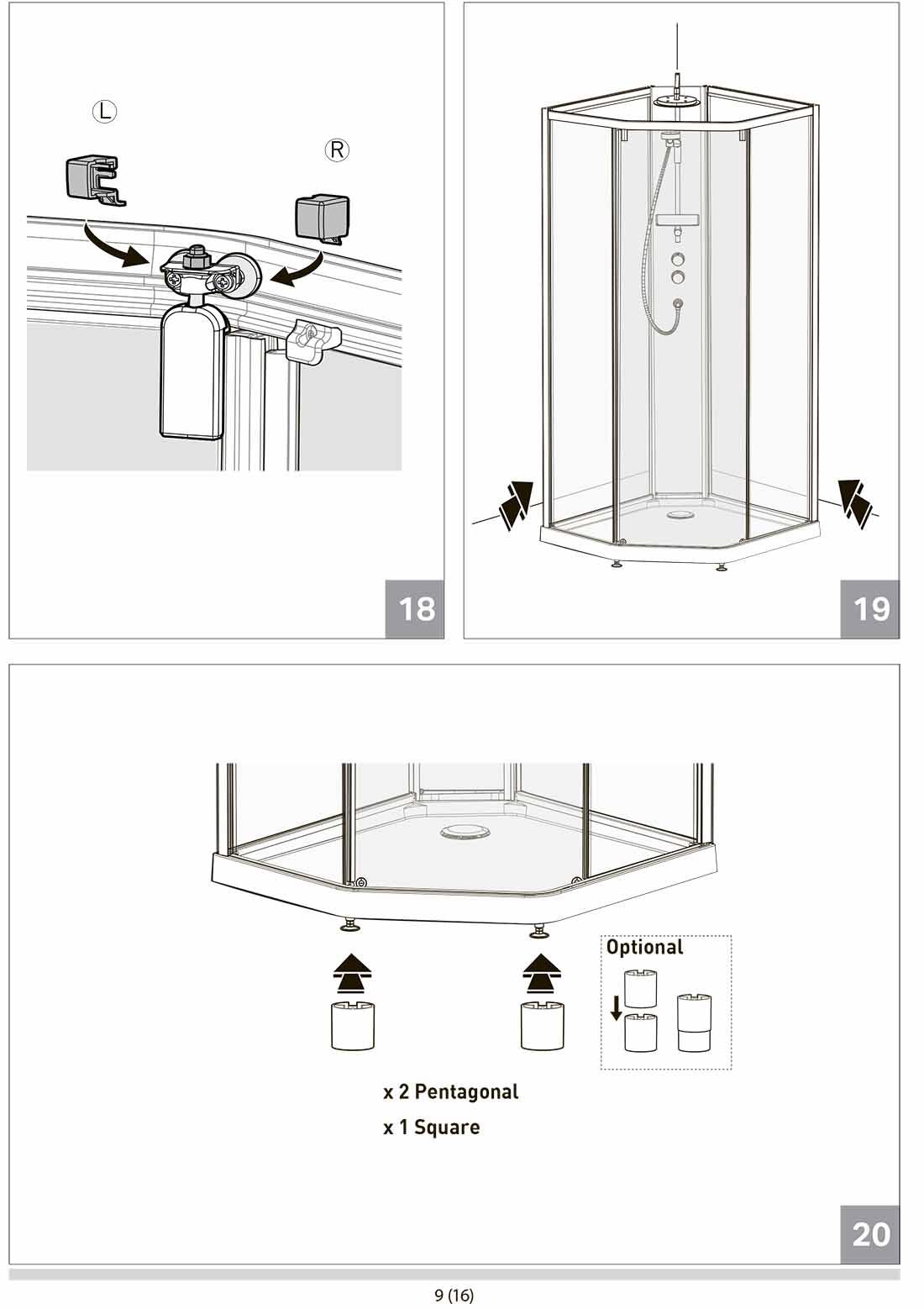 Устройство и варианты изготовления душевой кабины