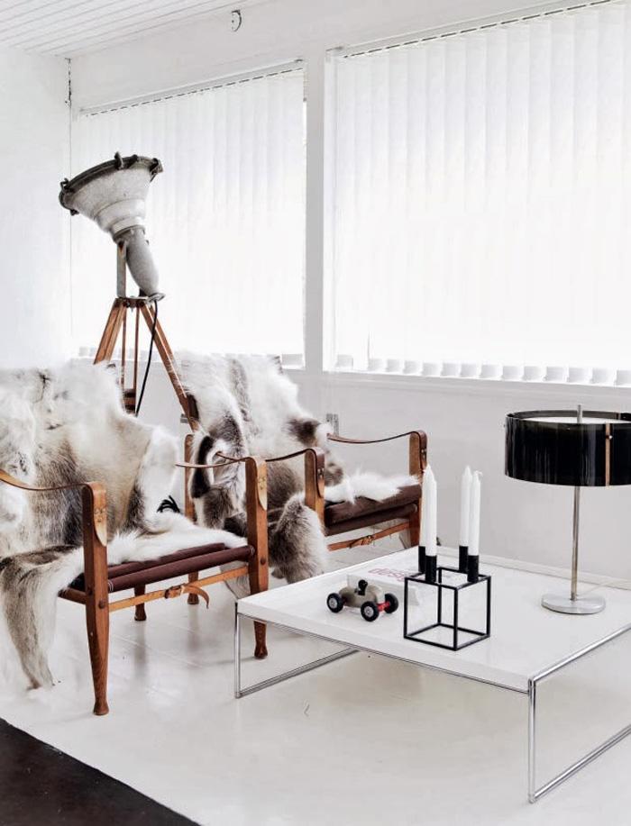Гостиная комната в скандинавском стиле фото