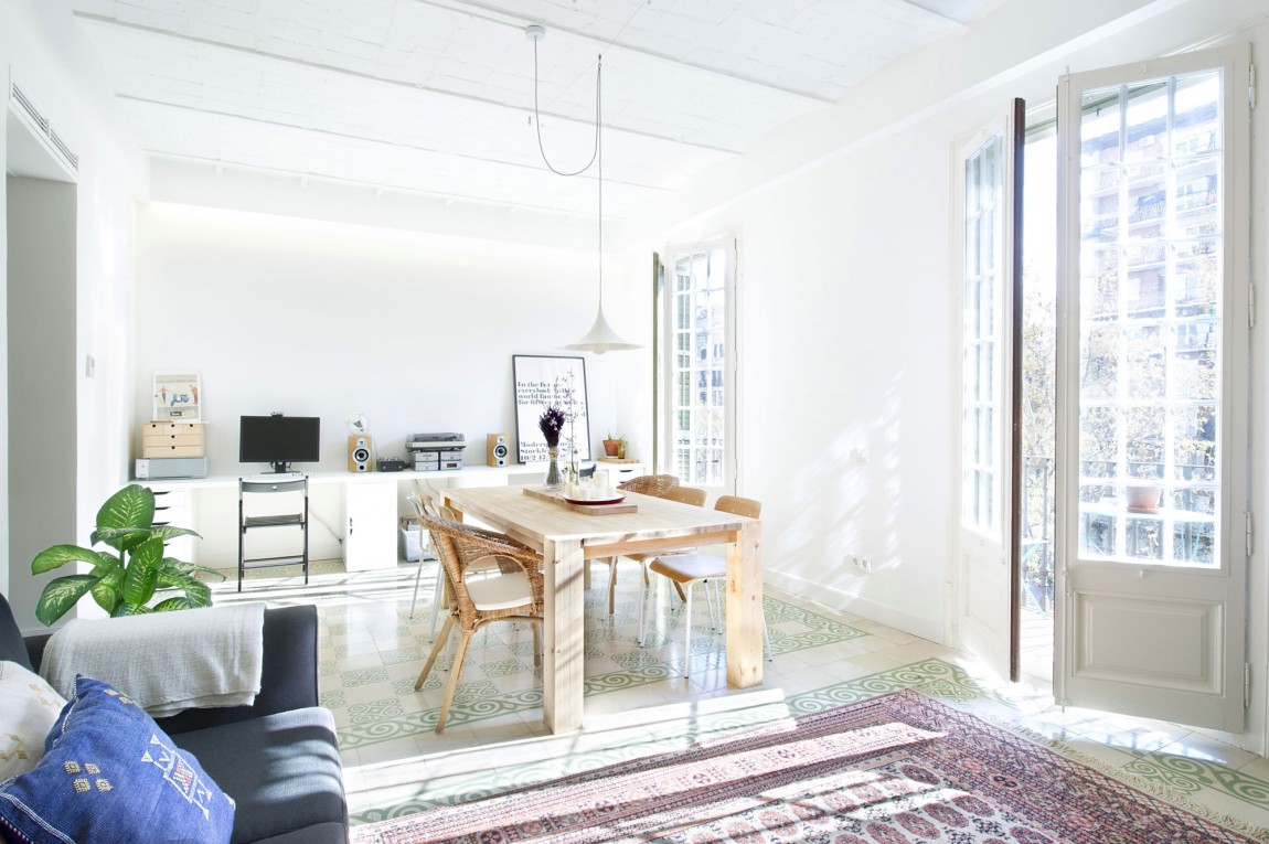 Интерьер загородного дома в скандинавском стиле