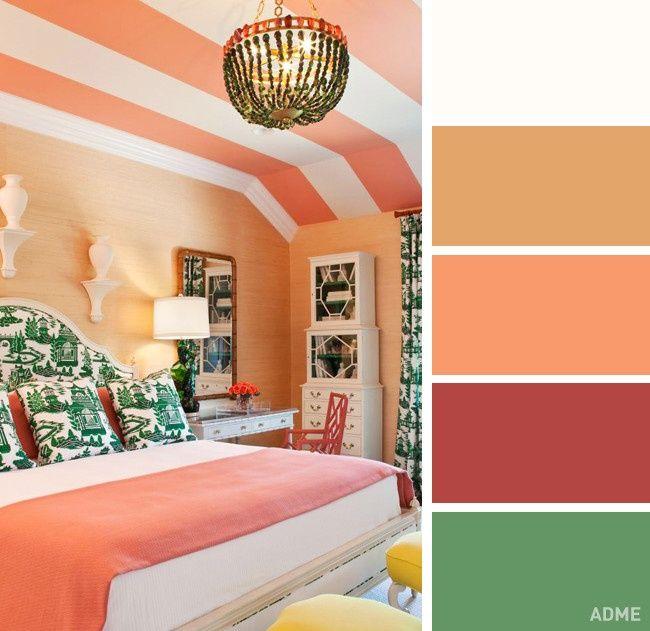 Сочетание цветов в интерьере: 75 фото, пол, потолок, стены