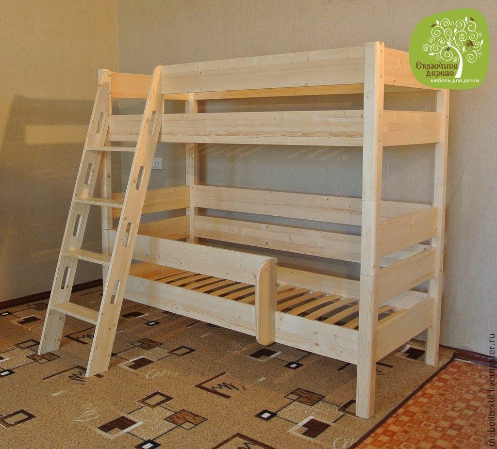 Детская двухъярусная кровать из дерева - проект и инструкция по сборке