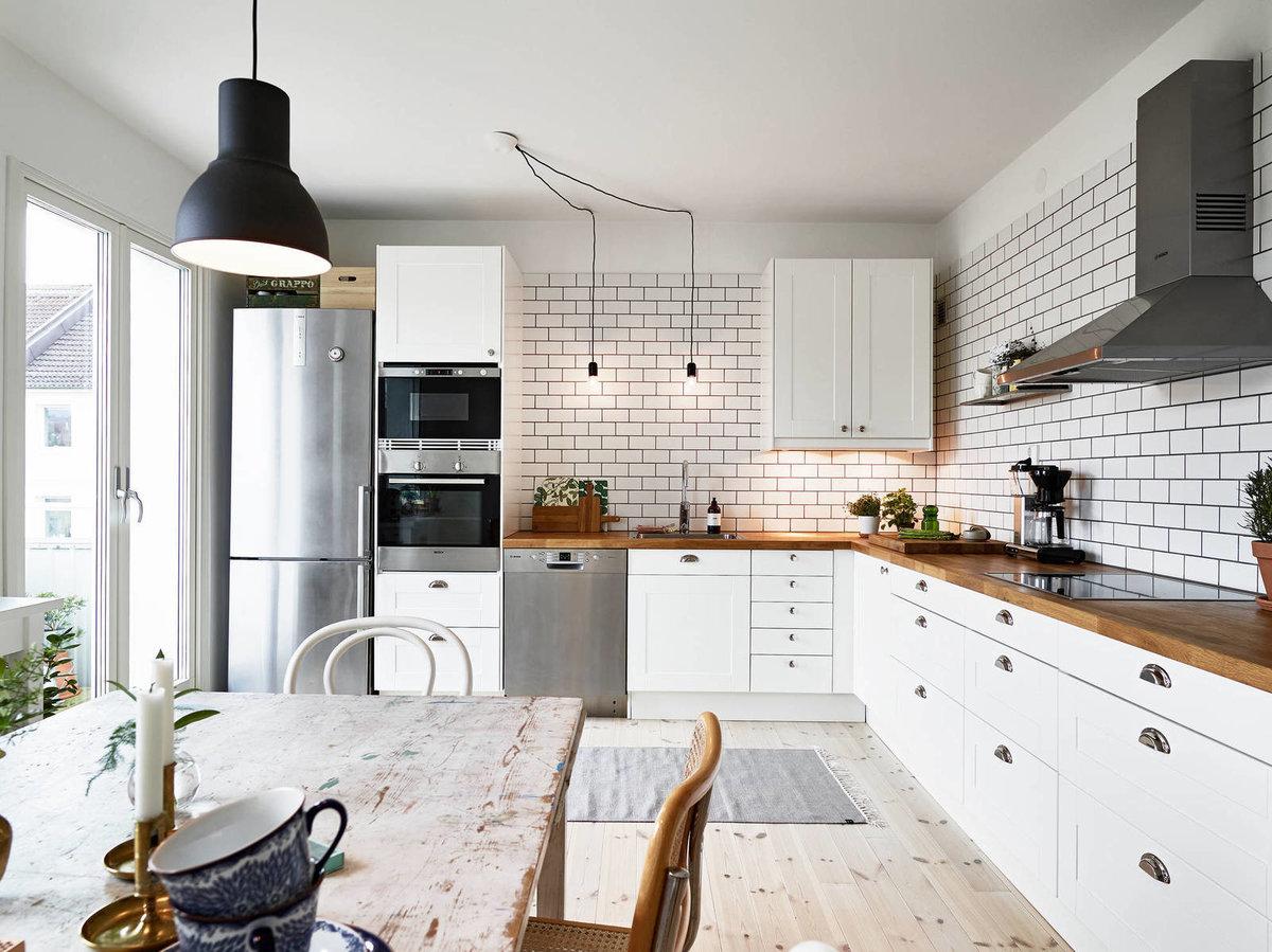 Кухня в скандинавском стиле: фото интерьера в квартире, идеи для дизайна