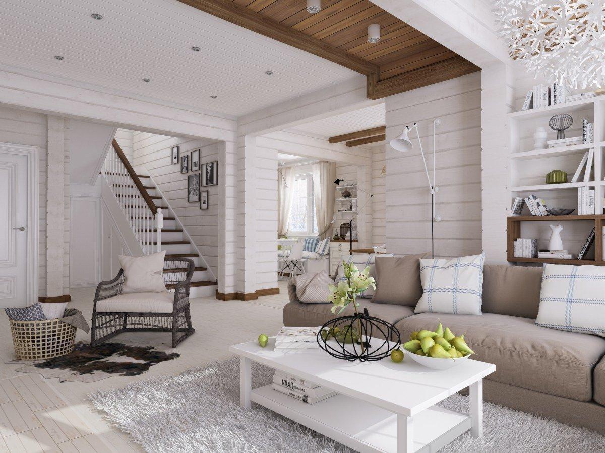 Интерьер (interior) загородного дома в скандинавском стиле — фото интерьеров студии «а8»