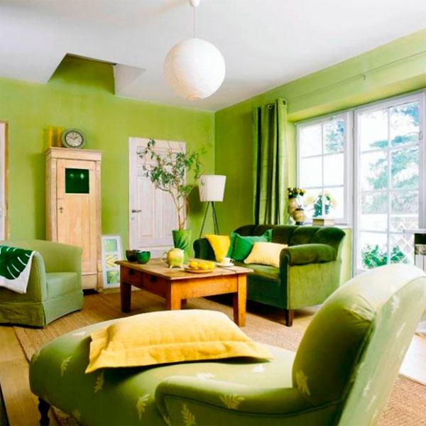 Зеленый цвет в интерьере: создай свой уголок природы
