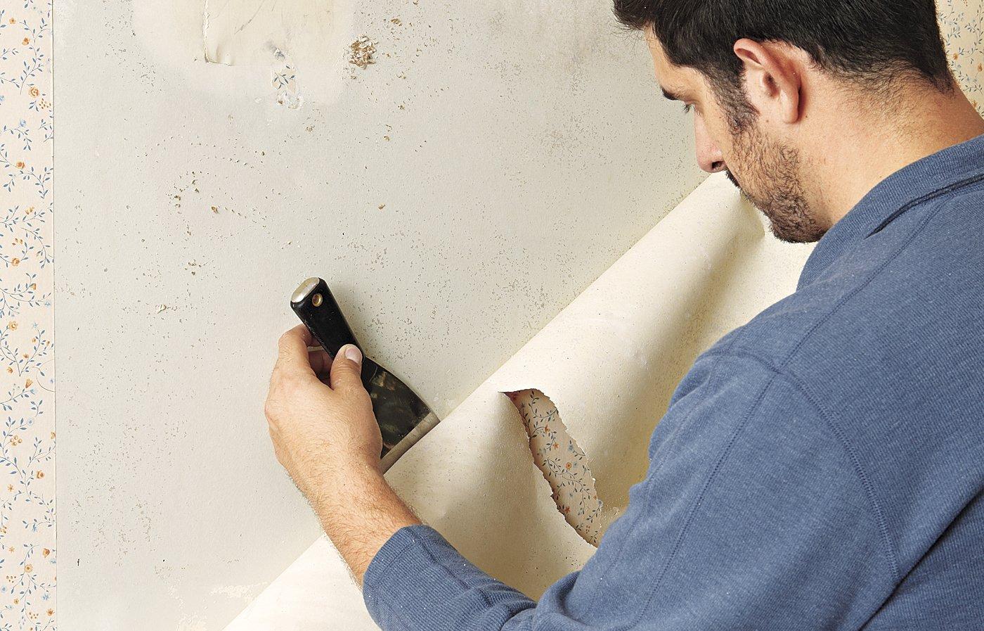Как снять обои с гипсокартона: способы правильно быстро и легко удалить, не повредив стену, старые бумажные, виниловые, флизелиновые, моющиеся и без шпаклевки