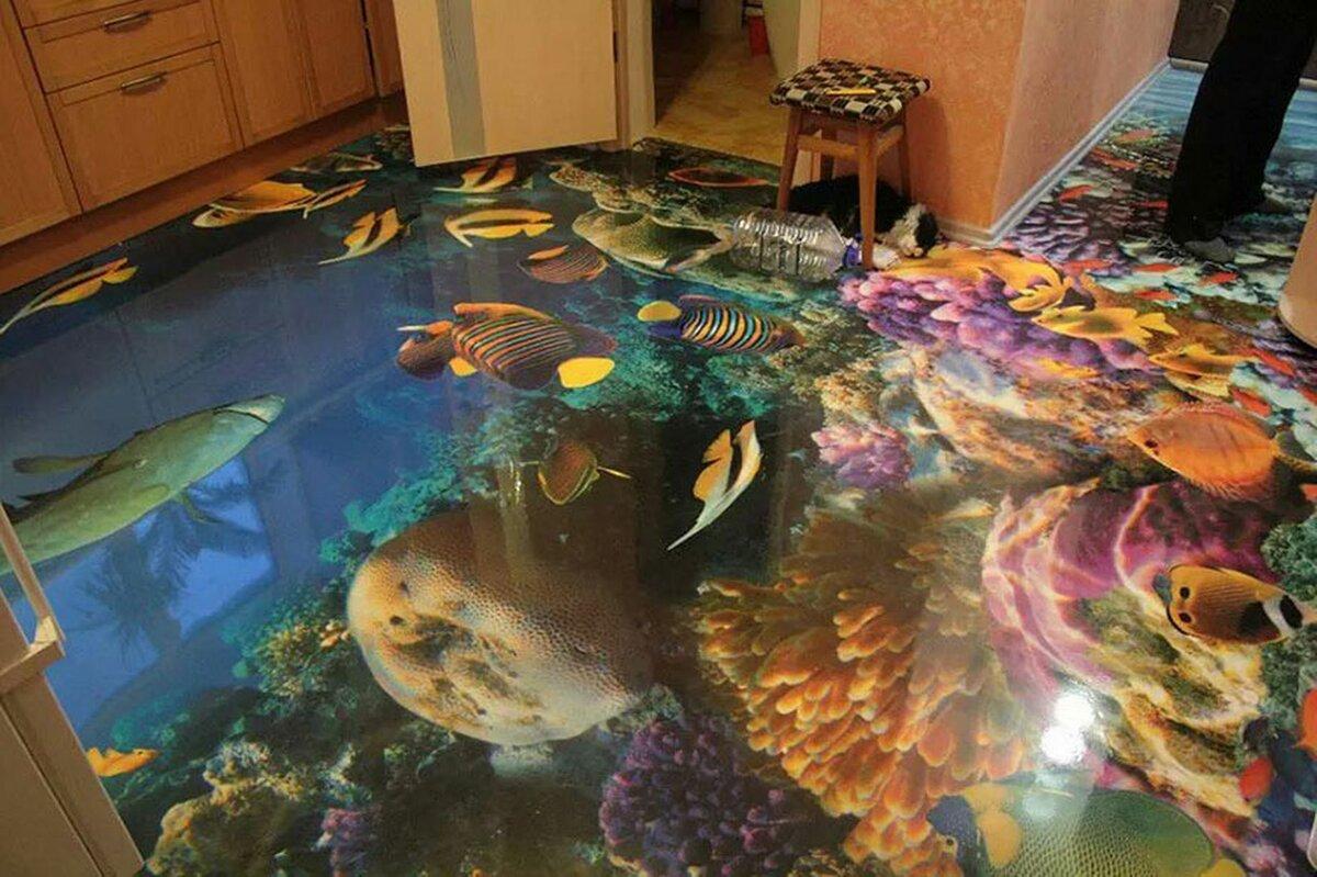 Наливной пол на кухне — 77 фото дизайна в современном стиле