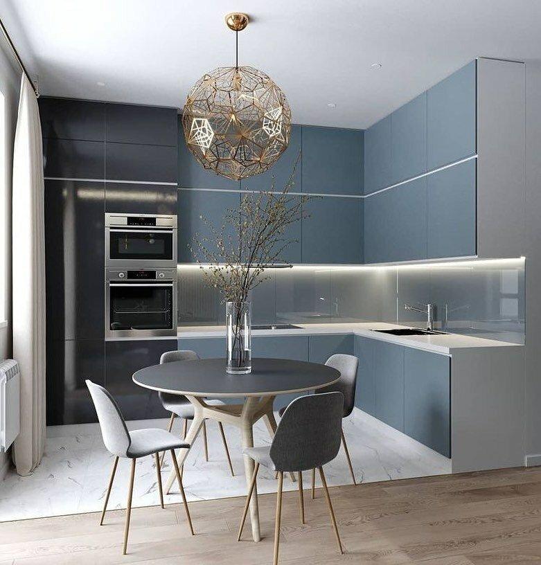 Дизайн маленькой кухни - 75 интересных идей оформления и декора