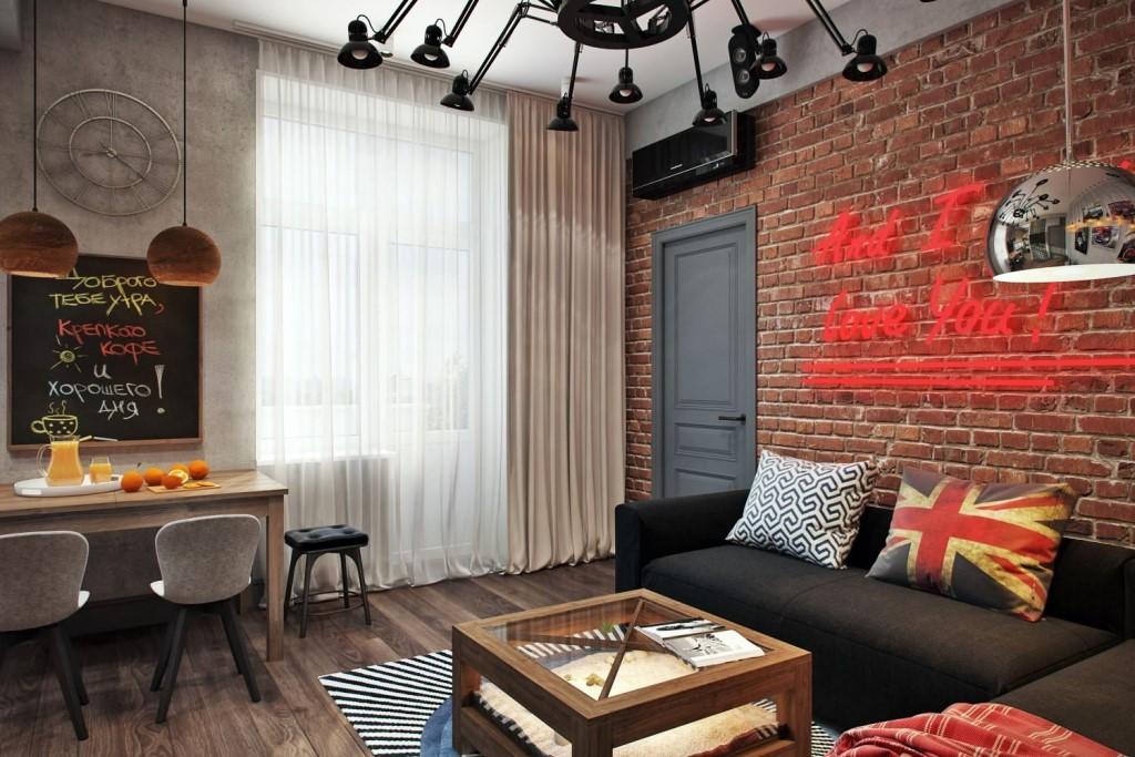 Квартира-студия в стиле лофт: идеи дизайна, выбор отделки, мебели, освещения