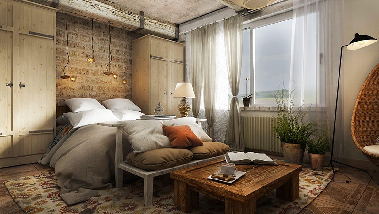 Дизайн спальни в стиле лофт - характерные черты стиля, особенности оформления, фото подборка интерьеров