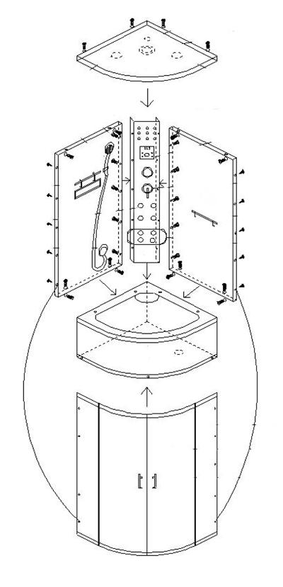 Как установить душевую кабину – последовательность установки, правила монтажа