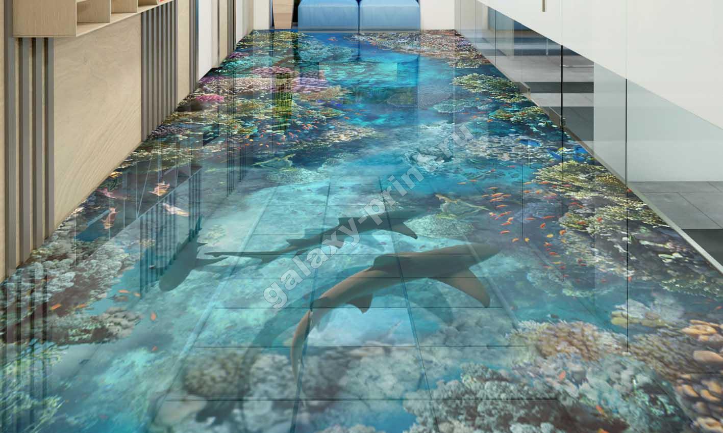 Наливные 3d-полы: красивые идеи дизайна (60 фото)