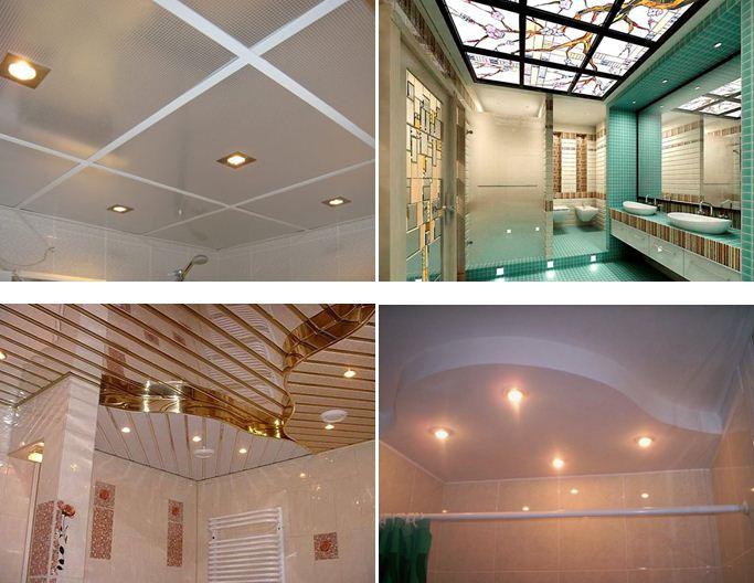 Потолок в ванной – какой лучше дизайн выбрать и как украсить своими руками (120 фото-идей 2020 года)