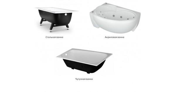 Акриловая, стальная или чугунная? какую ванну выбрать?