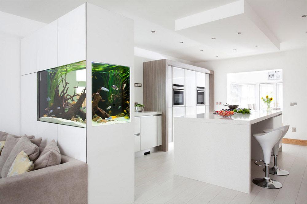 Аквариум в интерьере квартиры и дома