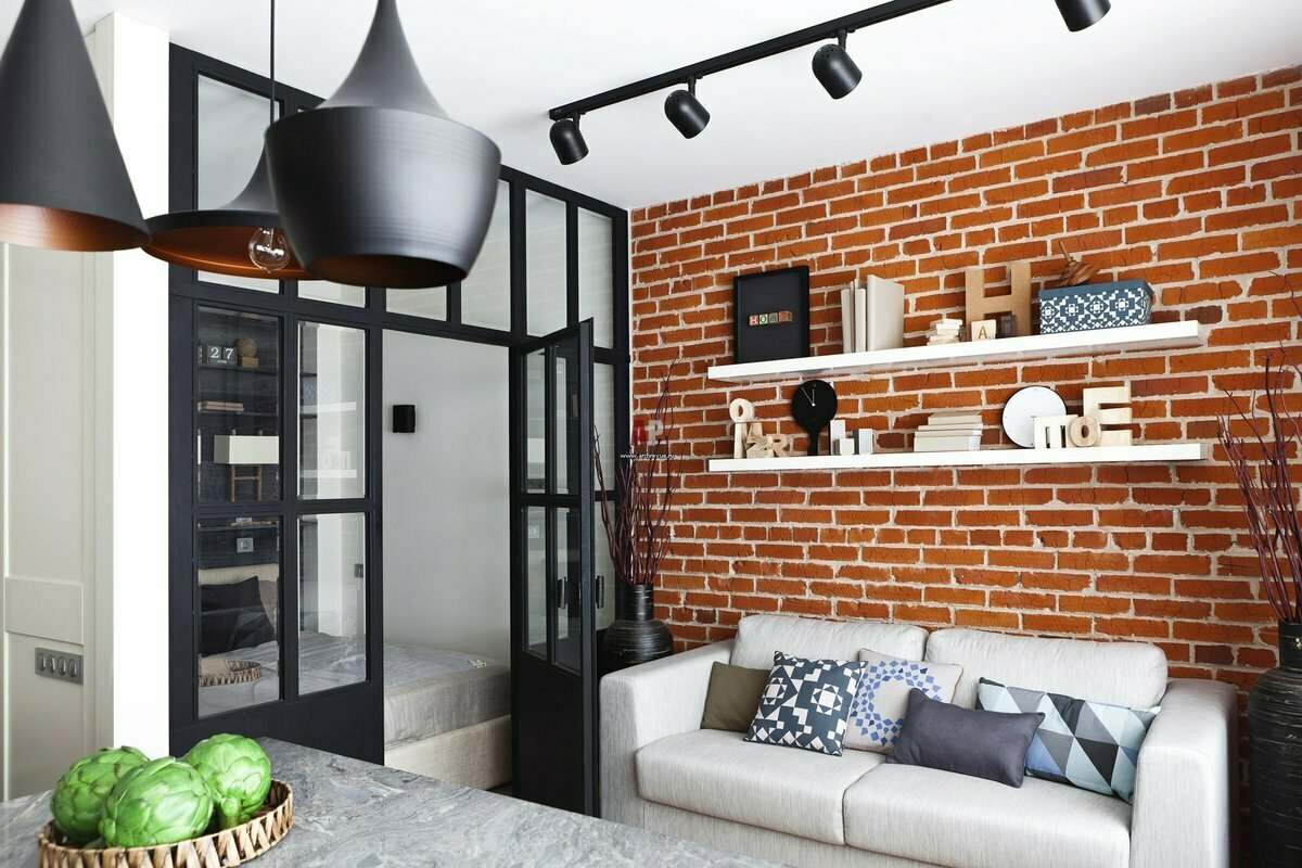 Кирпичная стена в интерьере: 70+ потрясающих примеров для вдохновения