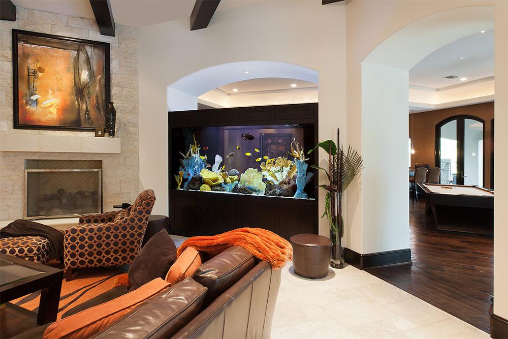 Требования к выбору и размещению аквариума в стену между комнатами