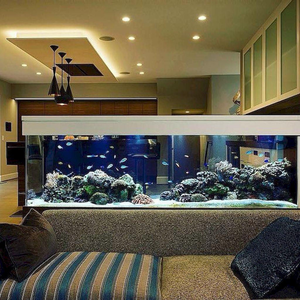 Варианты красивого дизайна интерьера квартиры с аквариумом