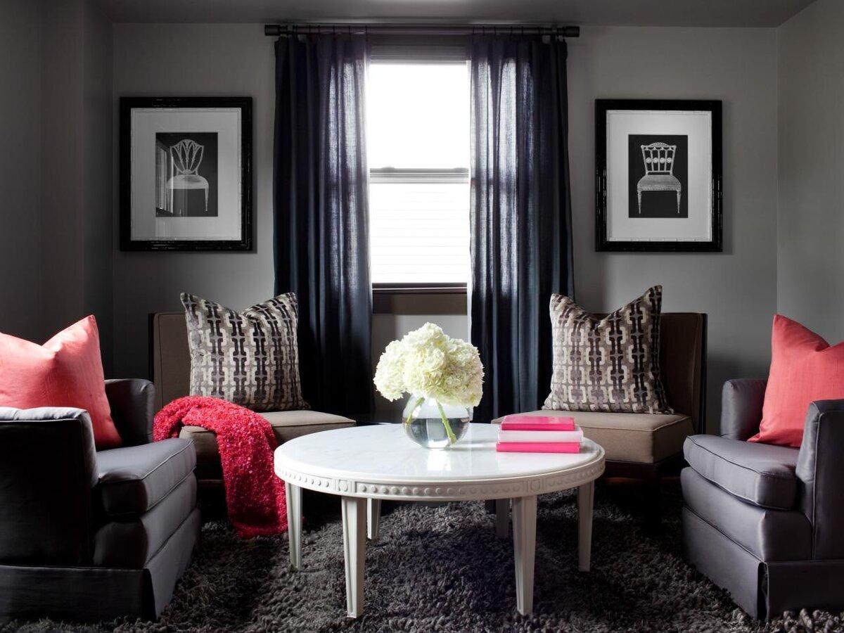 Серый и бежевый цвета в интерьере