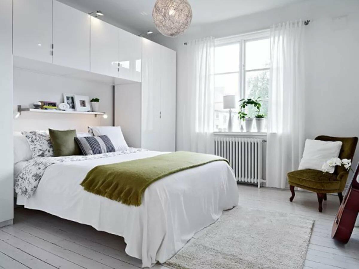 Сканди спальня в стиле минимализм
