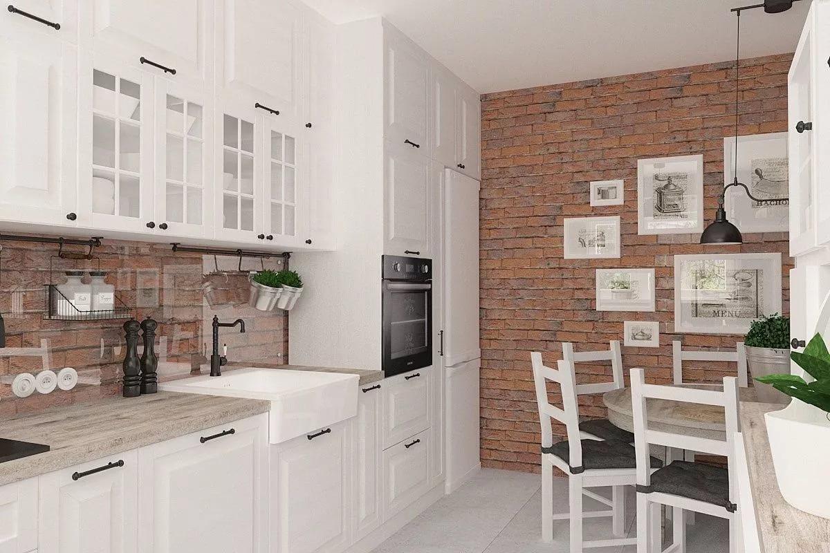 Отделка стены на кухне