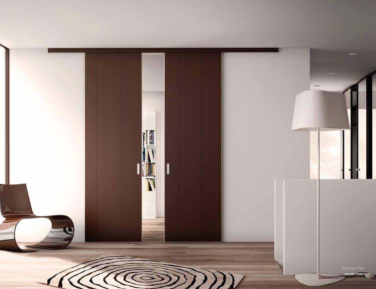 Раздвижная дверь в комнате: преимущества и особенности
