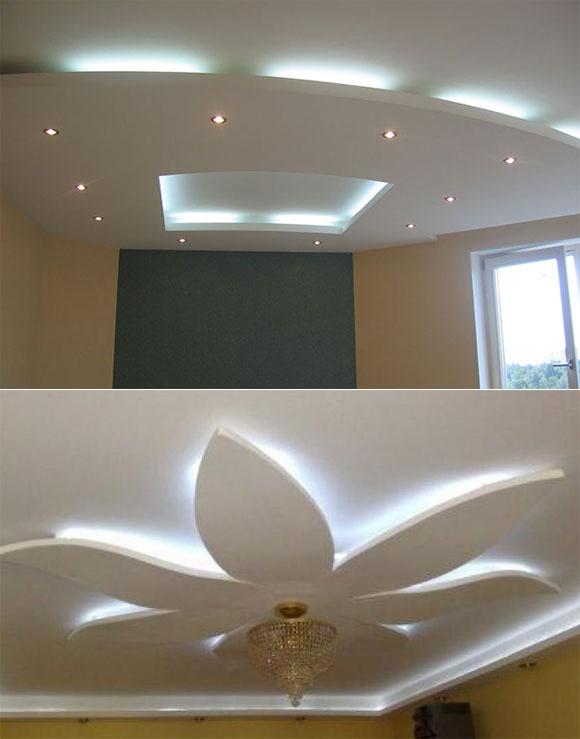 Потолки изгипсокартона— 50 фото красивого оформления интерьера
