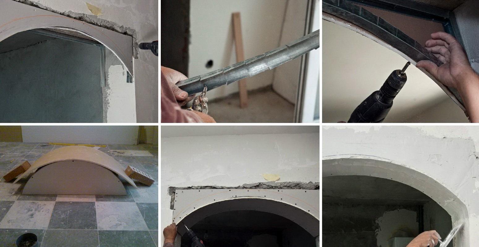 Как сделать арку из гипсокартона своими руками (видео и пошаговая инструкция)