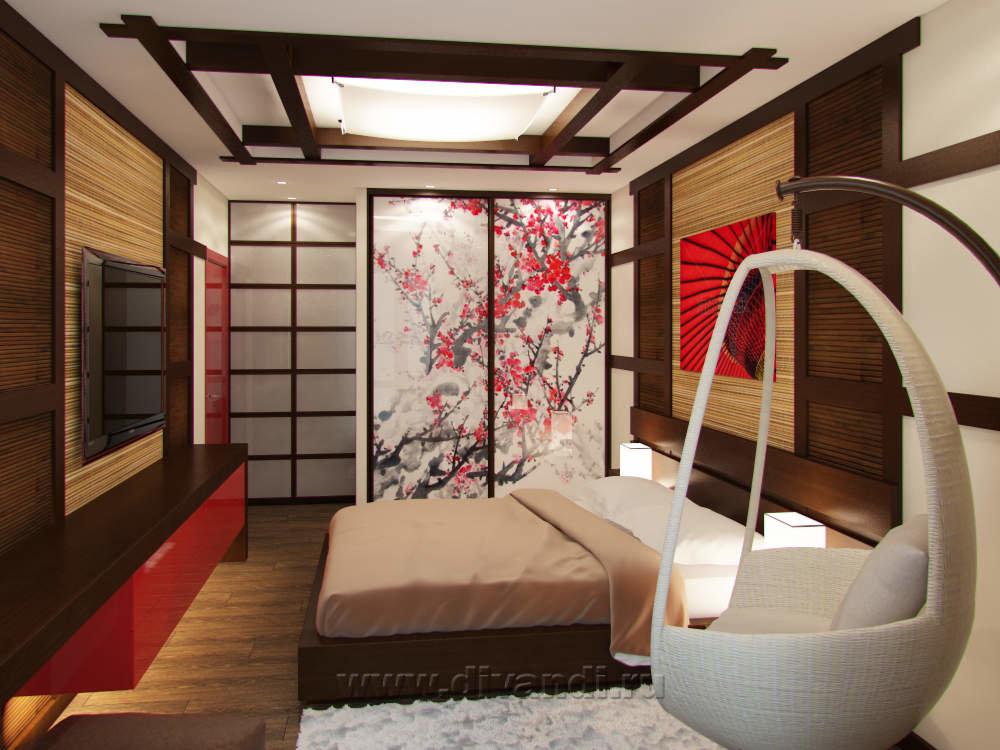 Спальня в японском стиле: 90 фото дизайна