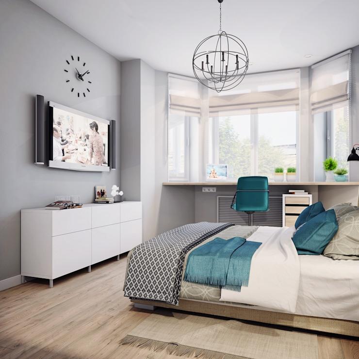 Скандинавский стиль в интерьере спальни с фото