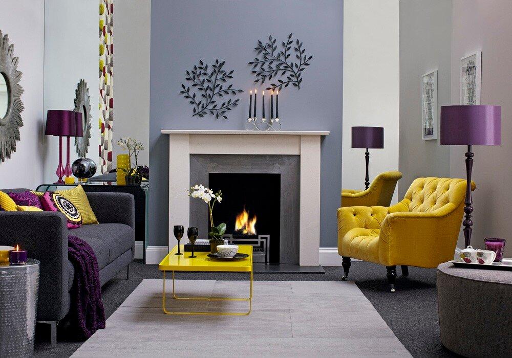 Как сочетать цвета в интерьере гостиной: правила и лучшие комбинации