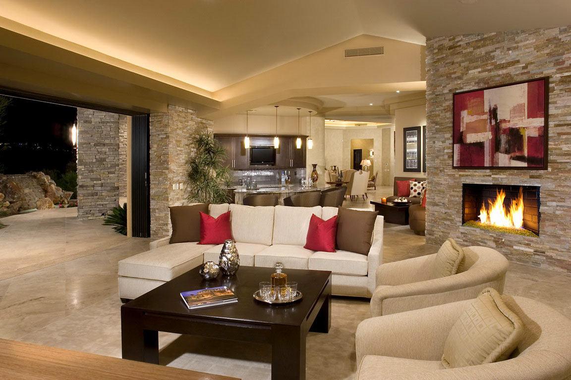 Варианты дизайна красивого и уютного зала в частных домах
