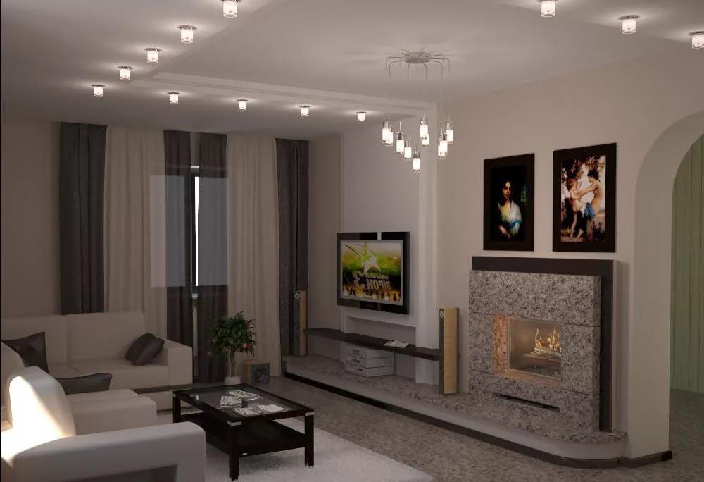 Гостиная с камином: 95 фото и советы по формированию стильной гостиной