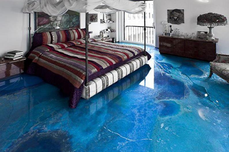 Использование наливного пола в дизайне квартиры