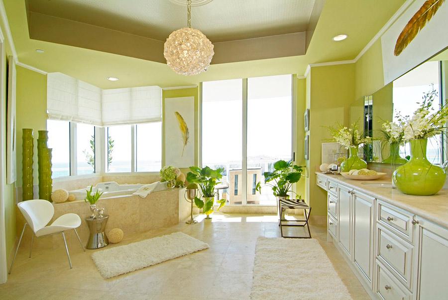 Фисташковый цвет в интерьере и его сочетание с другими цветами в различных помещениях