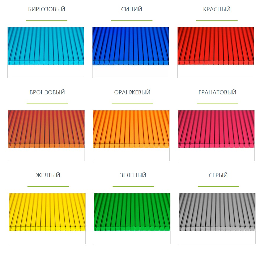 Поликарбонат: размеры различных типов листового материала и цена