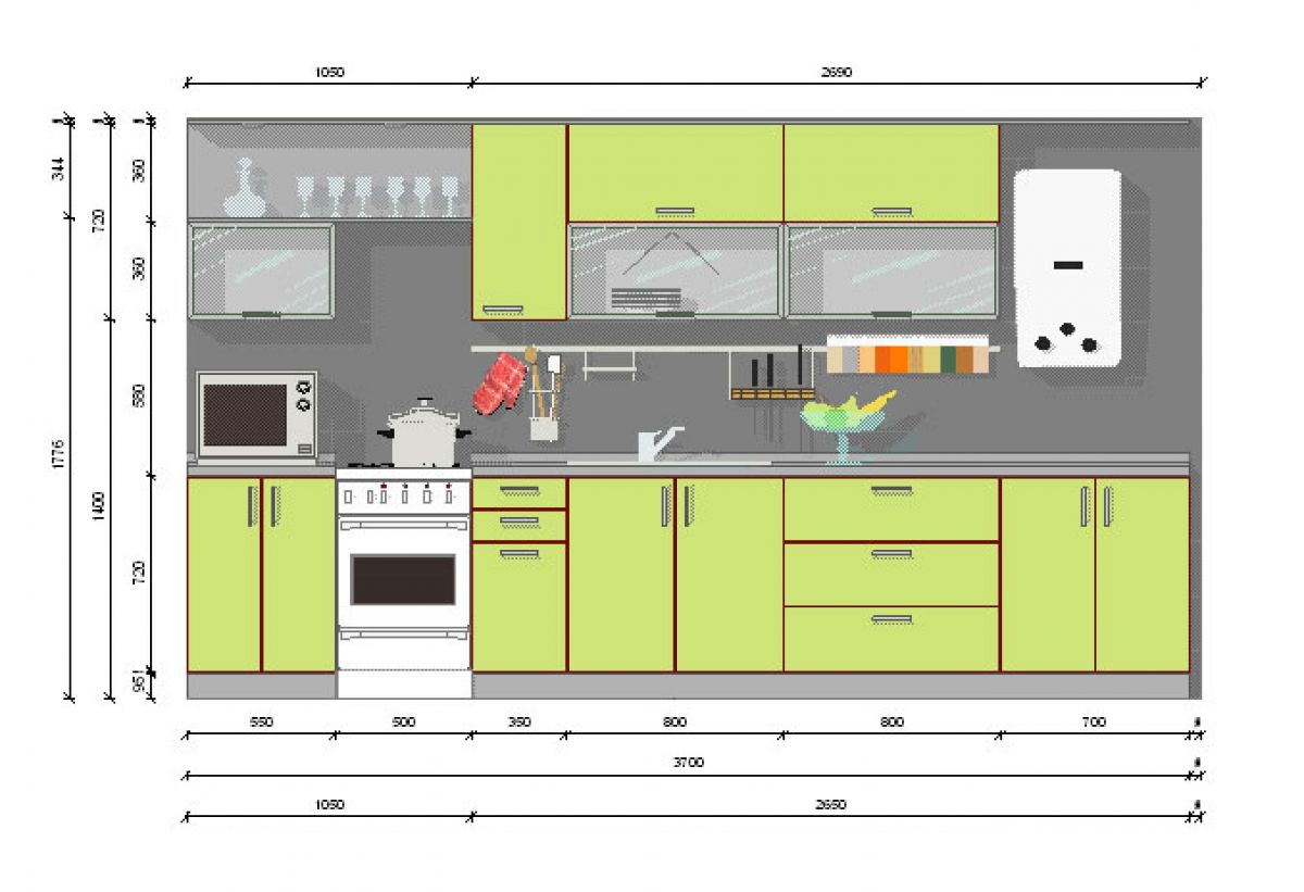 Сочетание цветов в интерьере кухни: как правильно подобрать гамму, таблица, фото