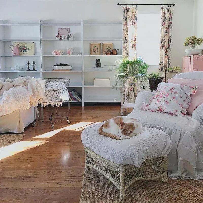 30 идей для оформления квартиры в стиле шебби-шик