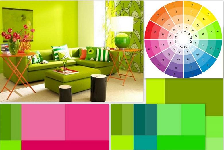Сочетание цветов в интерьере: 70 лучших идей