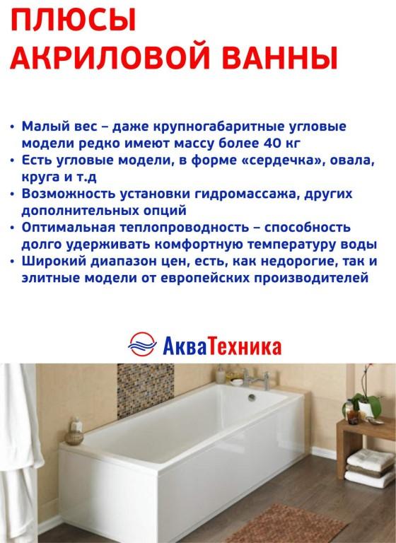 Разбираемся что лучше чугунная, акриловая или стальная ванна?